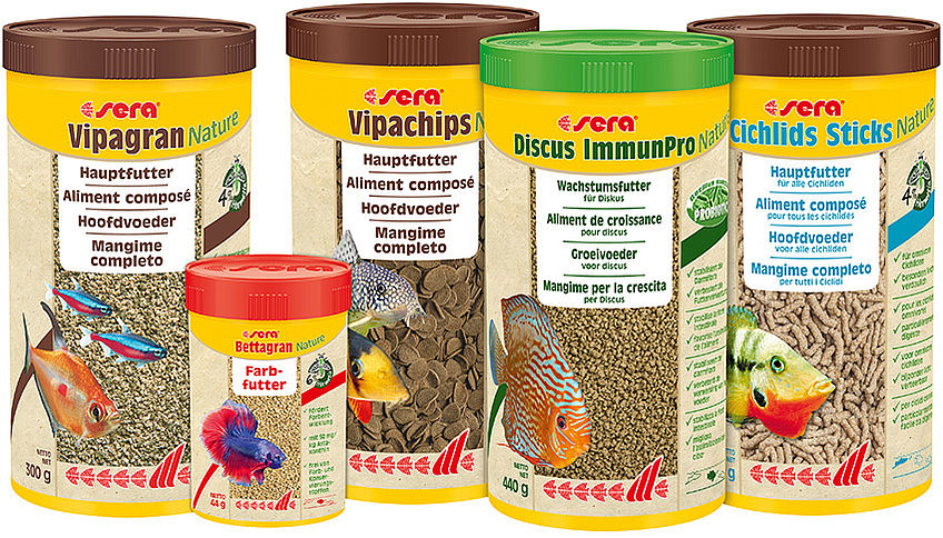 "NEW: all ornamental fish food types are available as ""Nature"" products from now on"